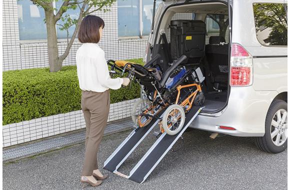 車いす・バギー運搬・車載専用携帯スロープ:パラキャリー
